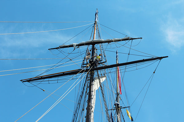 Schooner Lynx in the rigging Mystic Connecticut