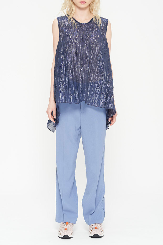 Pleated Lurex Top