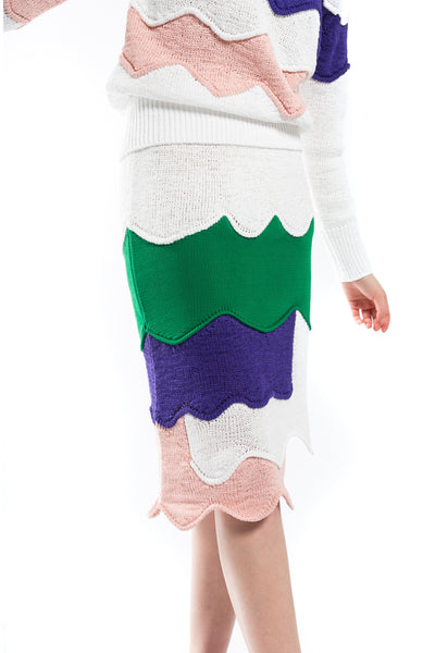 """Scallop Knit"" Skirt"