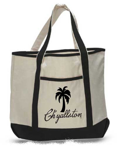 Ch'yallston Deluxe Canvas Travel/Beach Tote