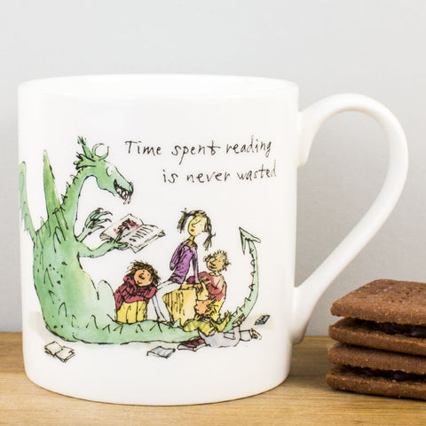 Time Spent Reading China Mug by Quentin Blake