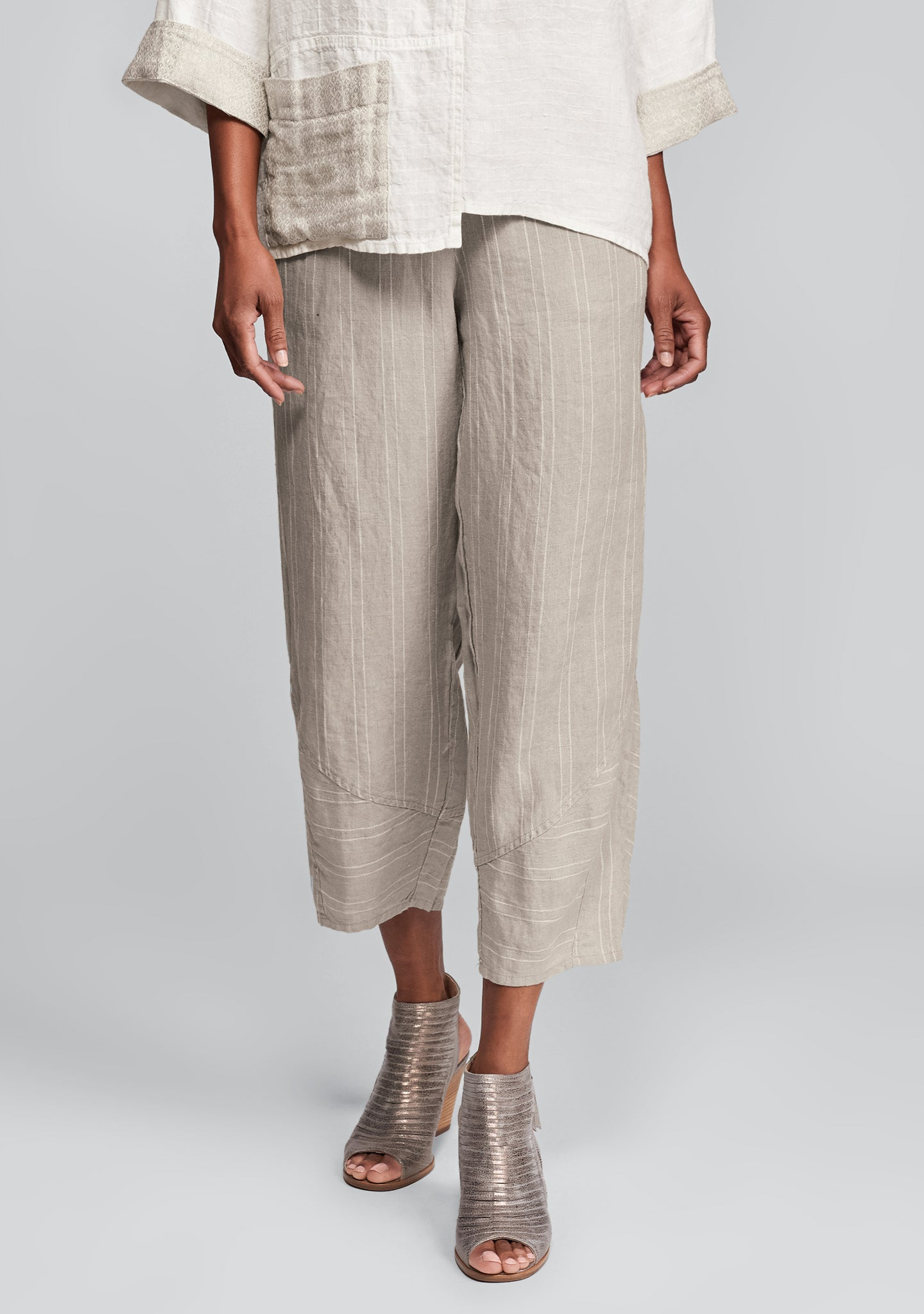 multi-facet pant linen pants natural