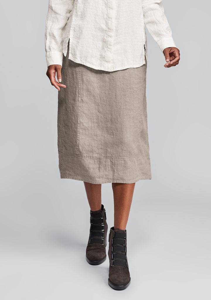 multi-facet skirt linen skirt natural
