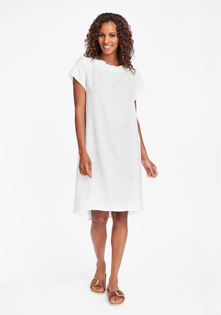 truly dreamy dress linen shift dress white
