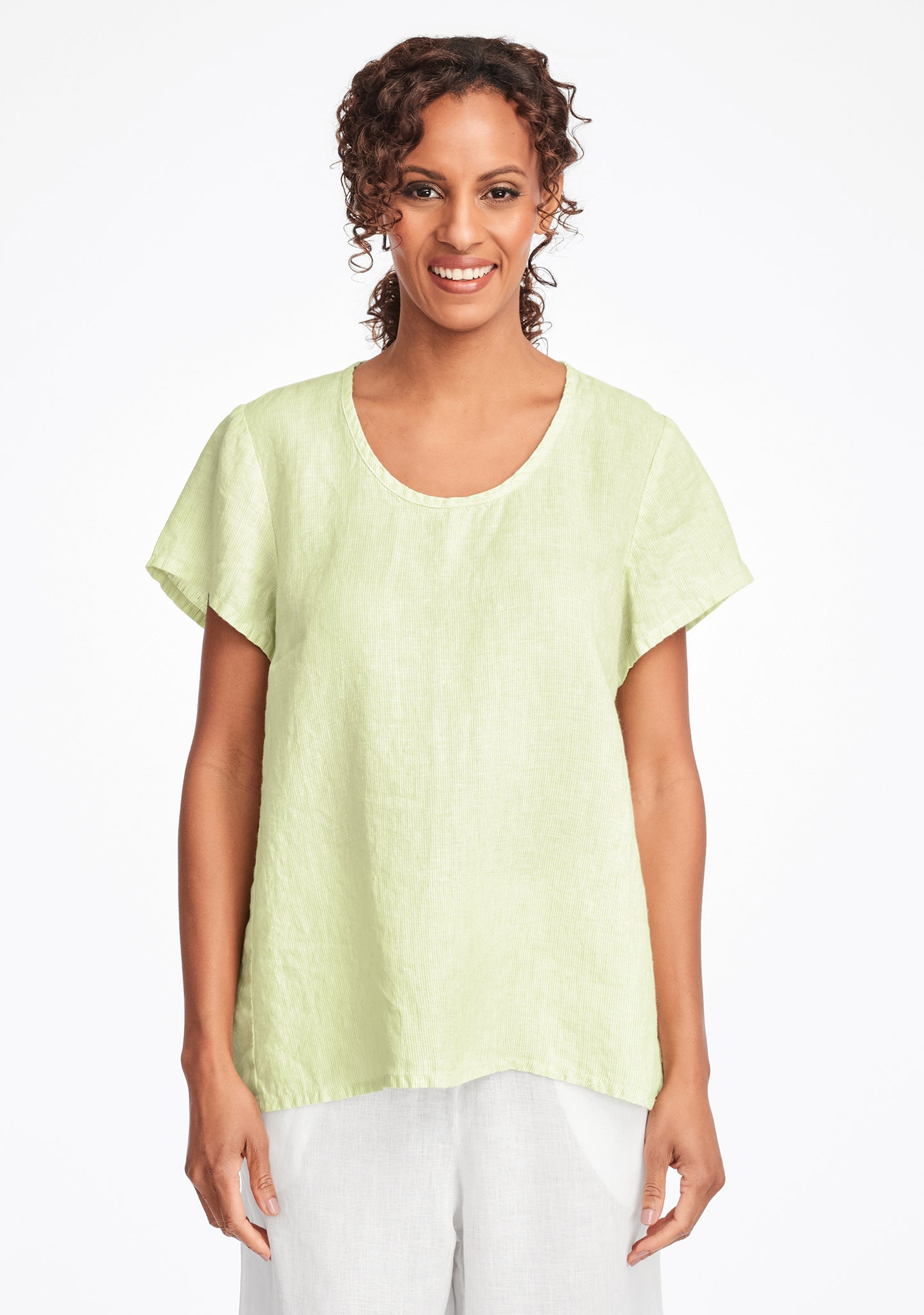 weightless tee linen t shirt green