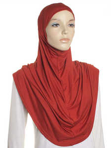 Rust Plain Pull On Style Al Amira Hijab