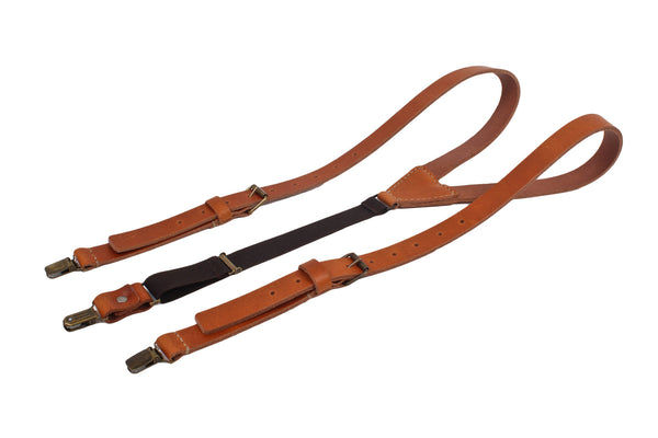 Leather Suspenders / Tan