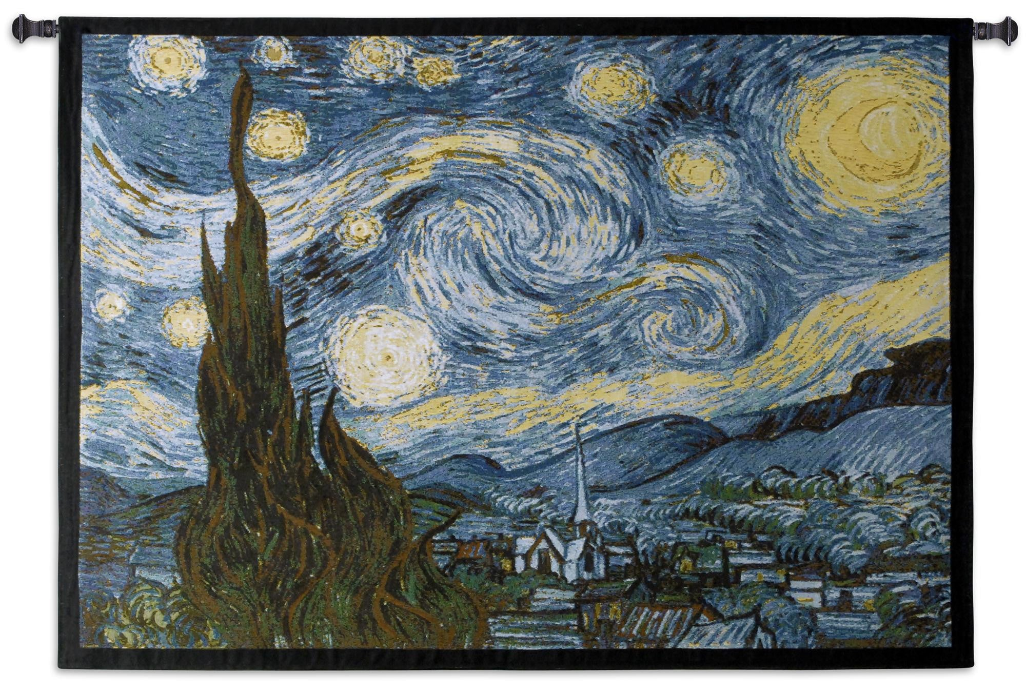 Star Night Van Gogh Textile Tapestry