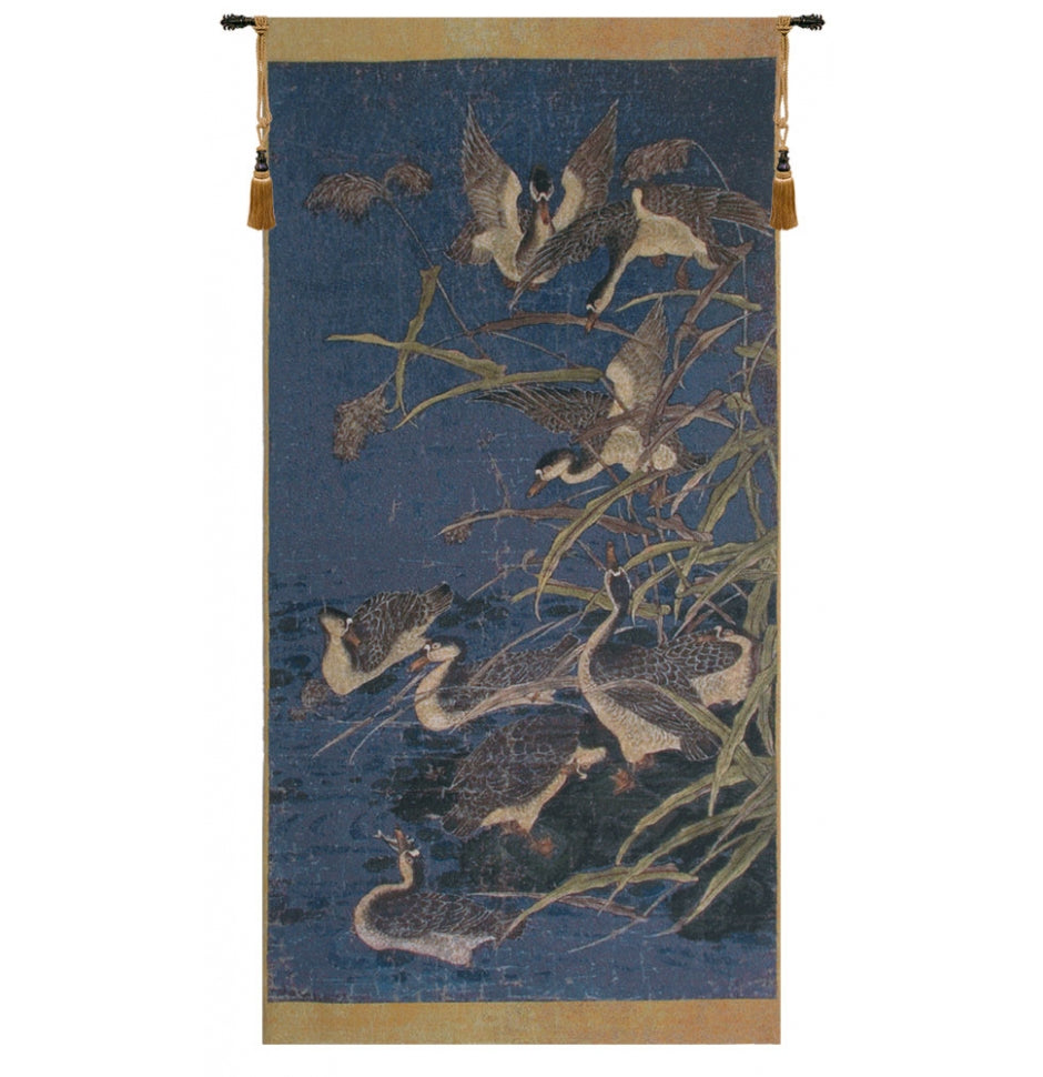 Panel with Ducks Tapestry Wall Hanging