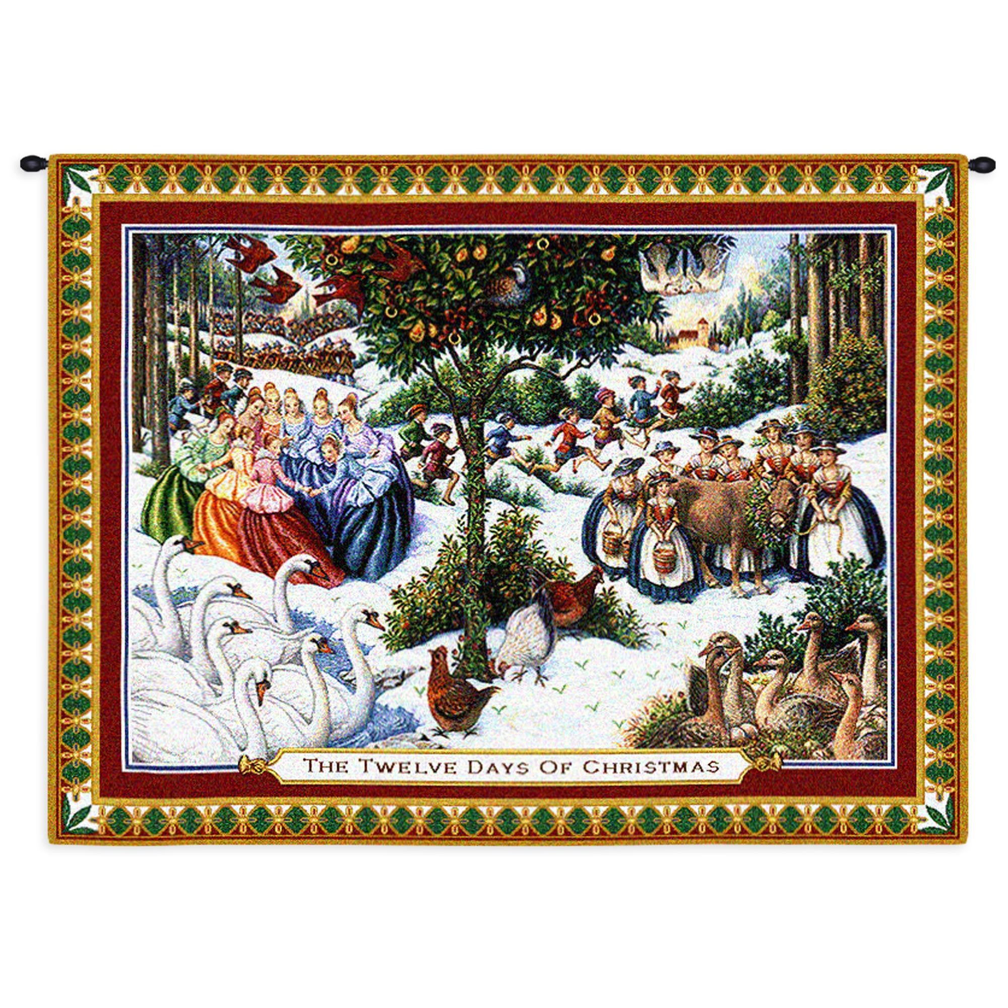 Twelve Days Of Christmas Woven Wall Hanging