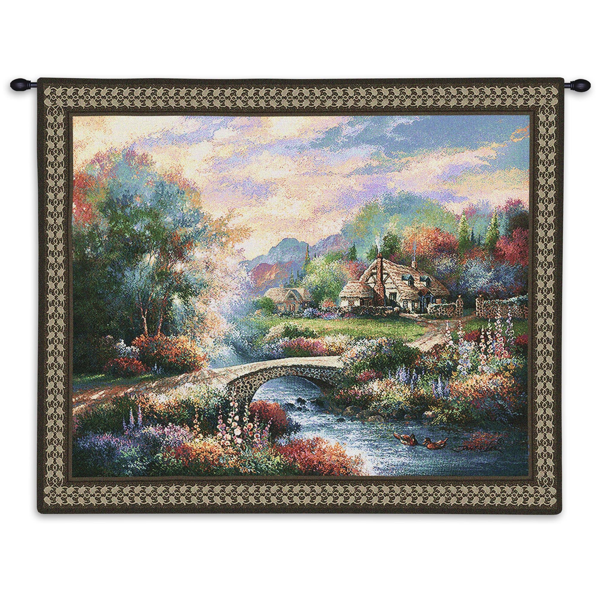 Country Americana Bridge Finely Crafted Textile