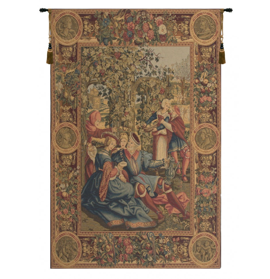 Renaissance The Month of October European Hanging Wall Tapestry
