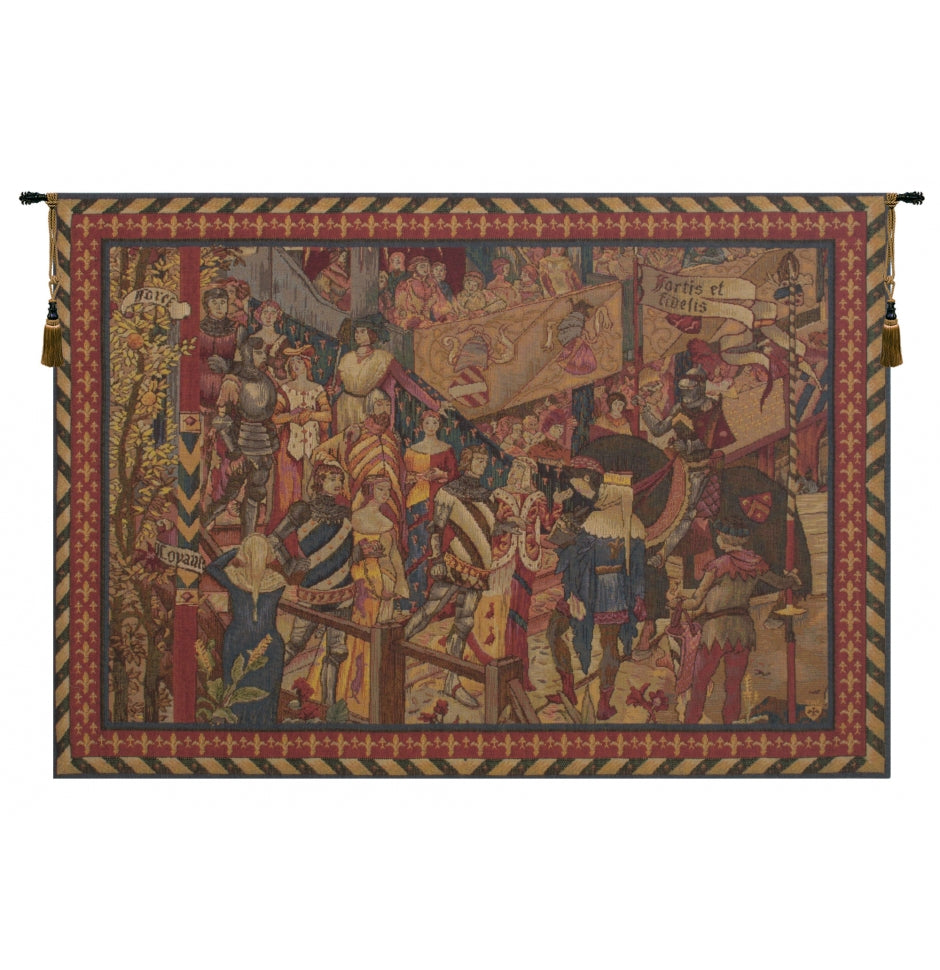 Le Tournai I Horizontal French Decor Wall Tapestry