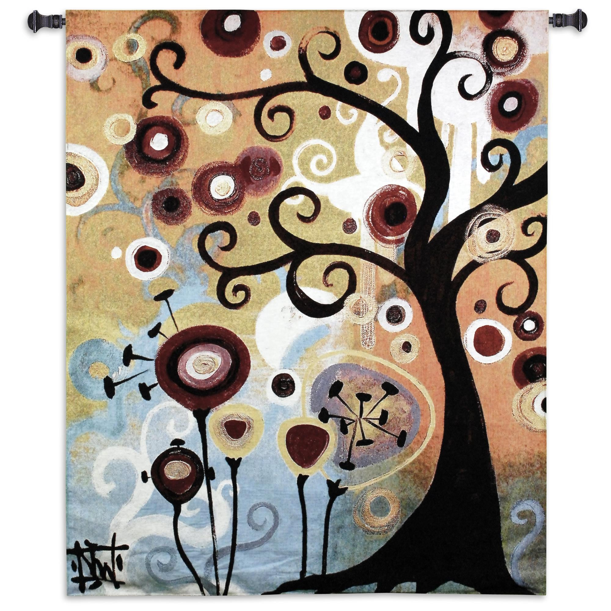 June Tree Medium Woven Wall Hanging Tapestry