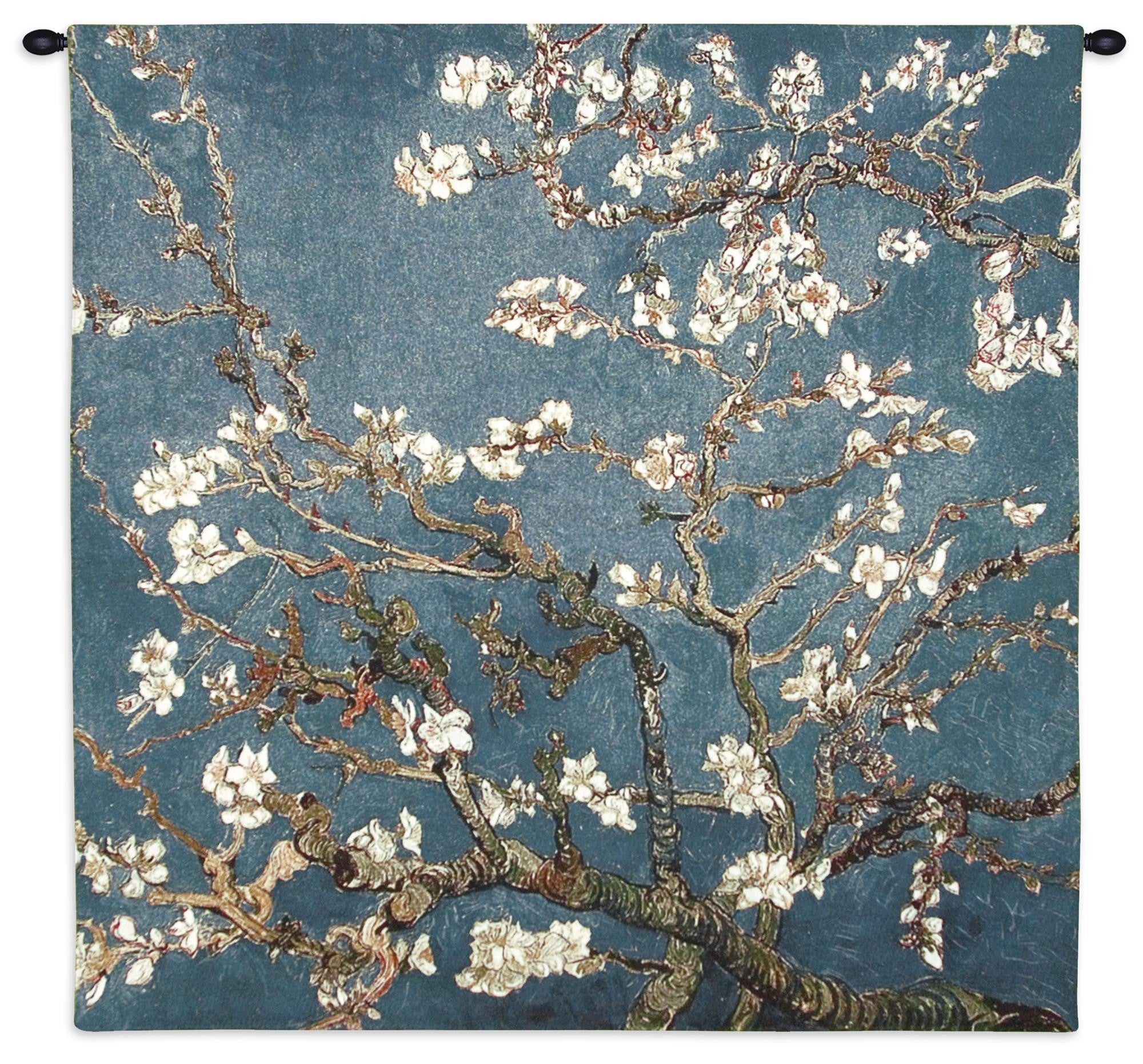 Blossoming Almond Tree Wall Tapestry by Van Gogh