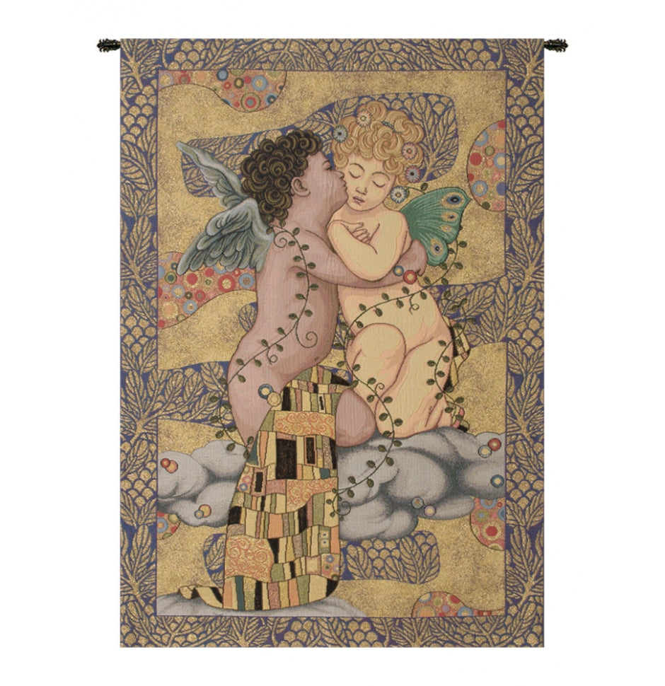 The First Kiss Italian Wall Hanging Tapestry