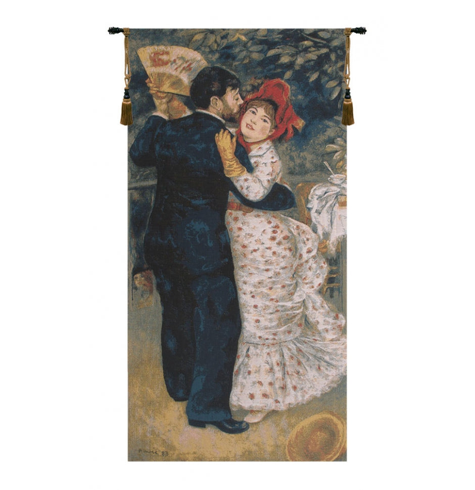 Blue Dance In The Country by Renoir European Wall Hanging Tapestry