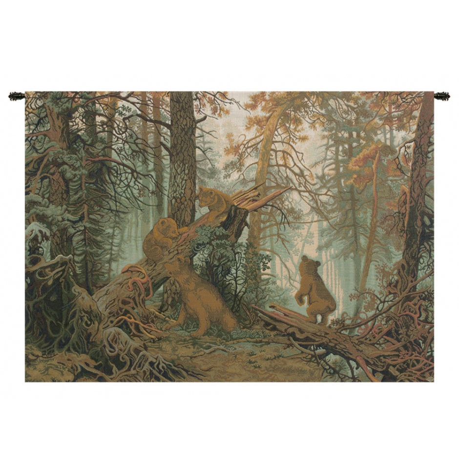 Morning in Pinewood Italian Wall Hanging Tapestry