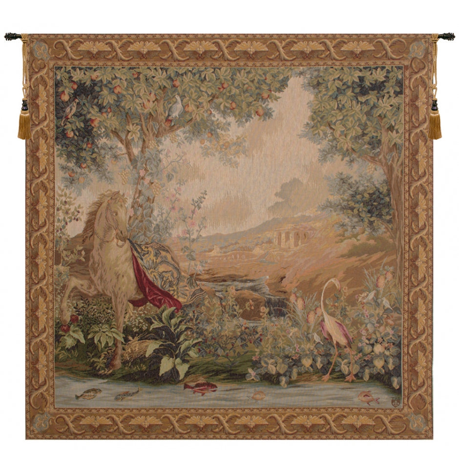Cream Le point Deau French Decor Wall Tapestry