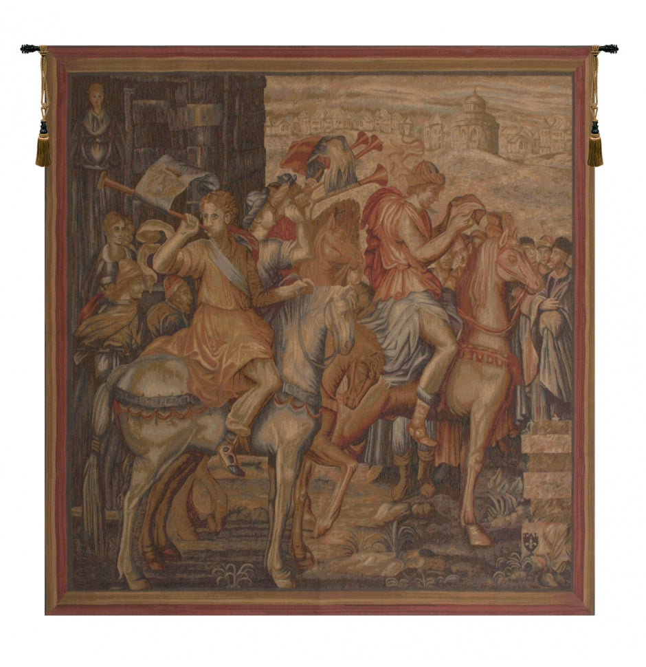 Beige Les Herauts French Decor Wall Tapestry