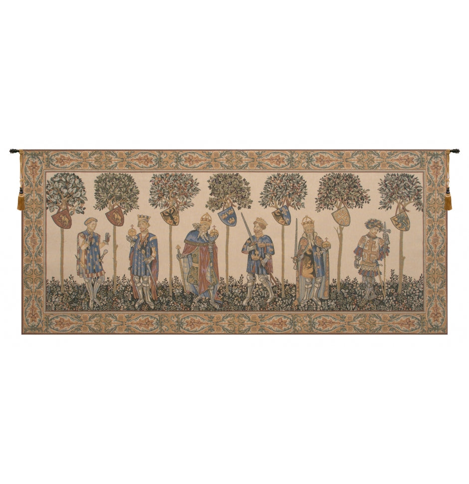 White Master of the Castle II Decor Wall Tapestry