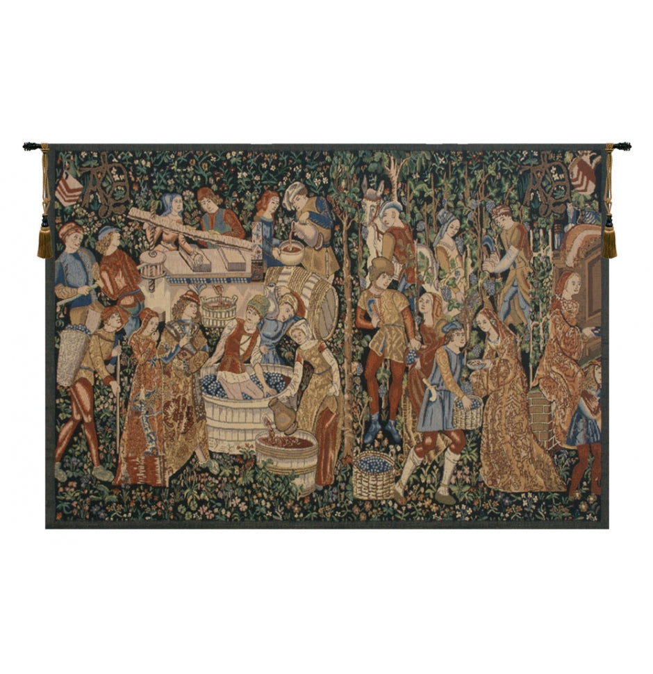 Vendages Rust Wall Hanging Tapestry