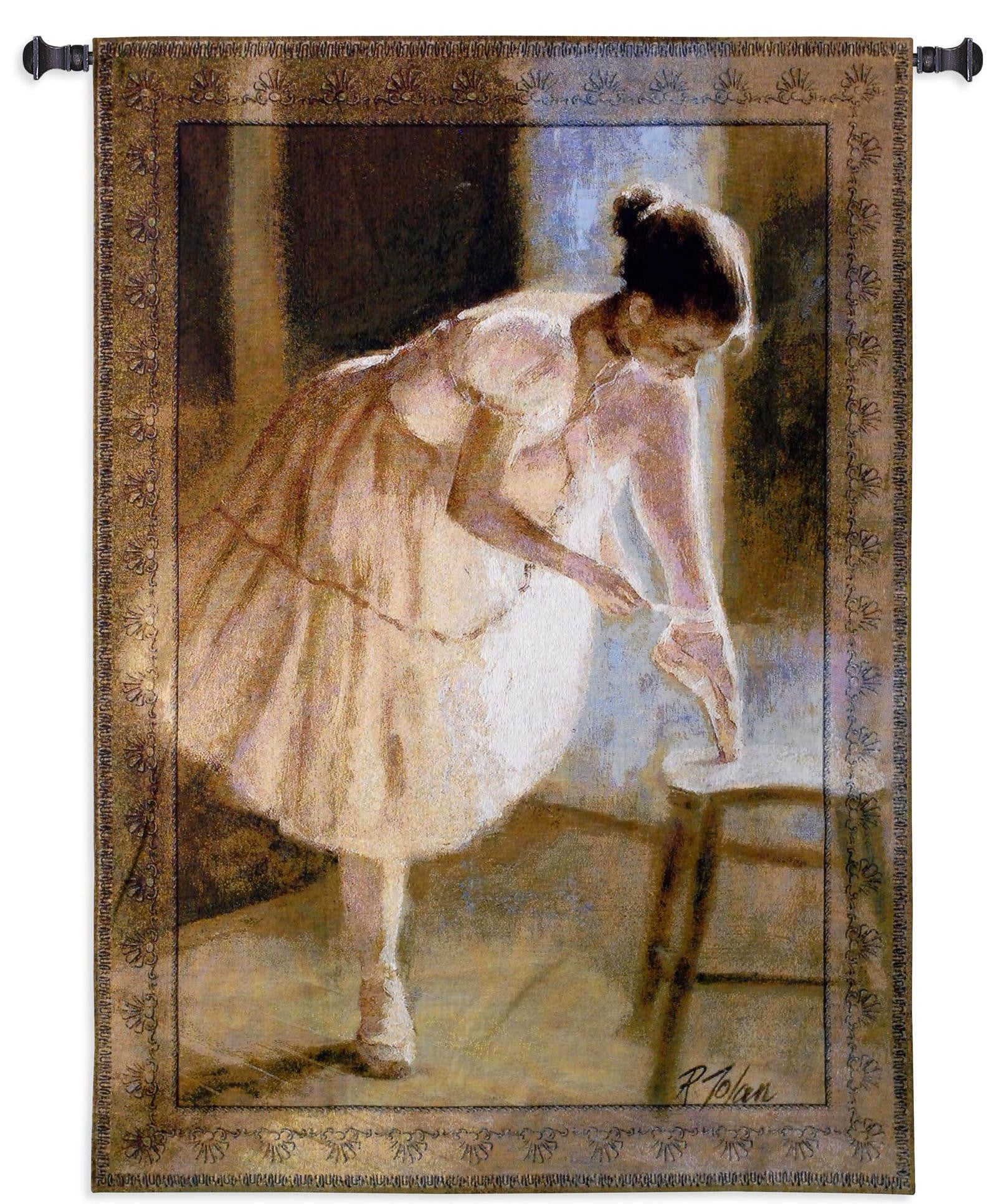 Dress Rehearsal Ballet Wall Hanging Tapestry