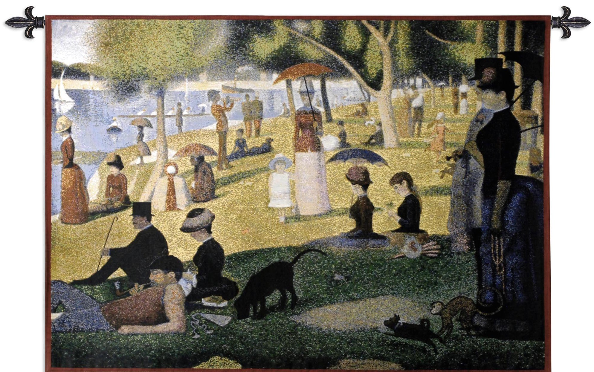 A Sunday Afternoon On The Island Of La Grande Jatte Jacquard Woven Wall Tapestry