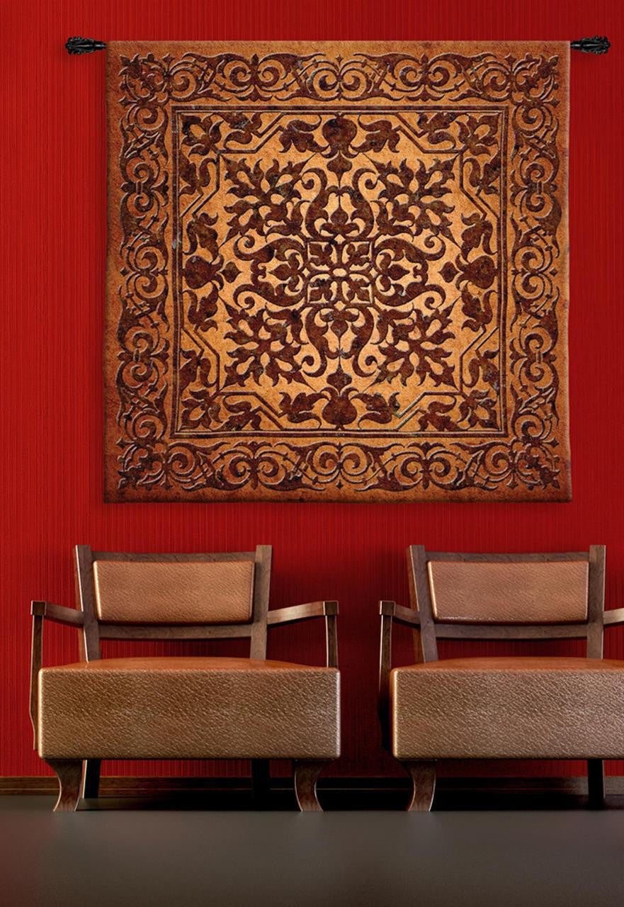 Iron Work Brown Tapestry