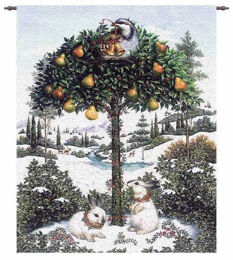 Partridge In A Pear Tree Wall Hanging