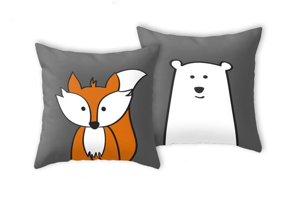Polar bear pillow. Nursery pillow - Latte Design  - 3