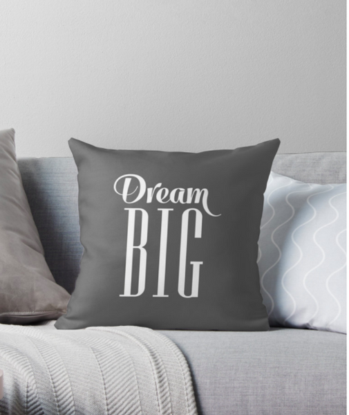 Dream big beige cushion. Nursery cushion
