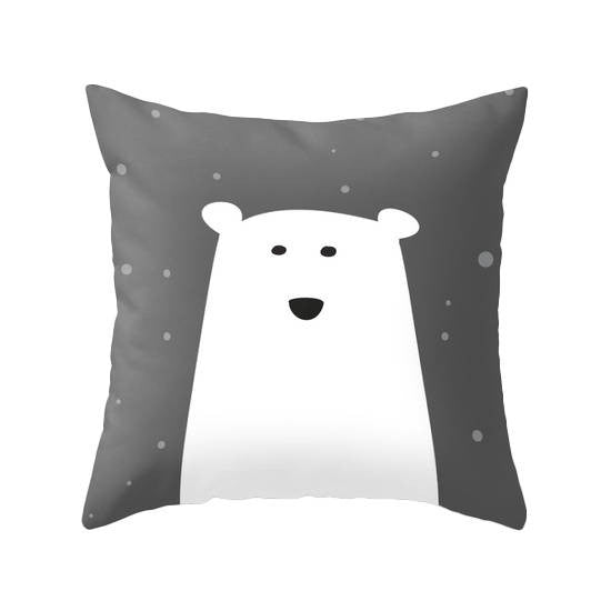 Polar bear cushion. Nursery cushion