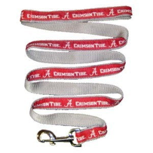 ALABAMA CRIMSON TIDE DOG LEASH – RIBBON, NCAA - Bones Bizzness