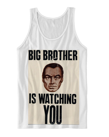 Big Brother Is Watching You Vintage Poster Tank-Top