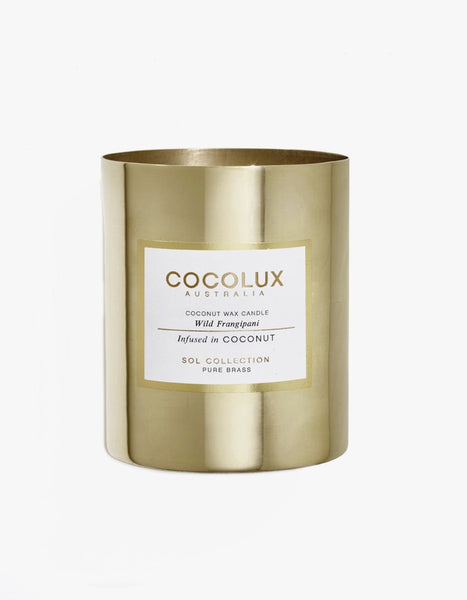 COCOLUX BRASS CANDLE WILD FRANGIPANI 150G