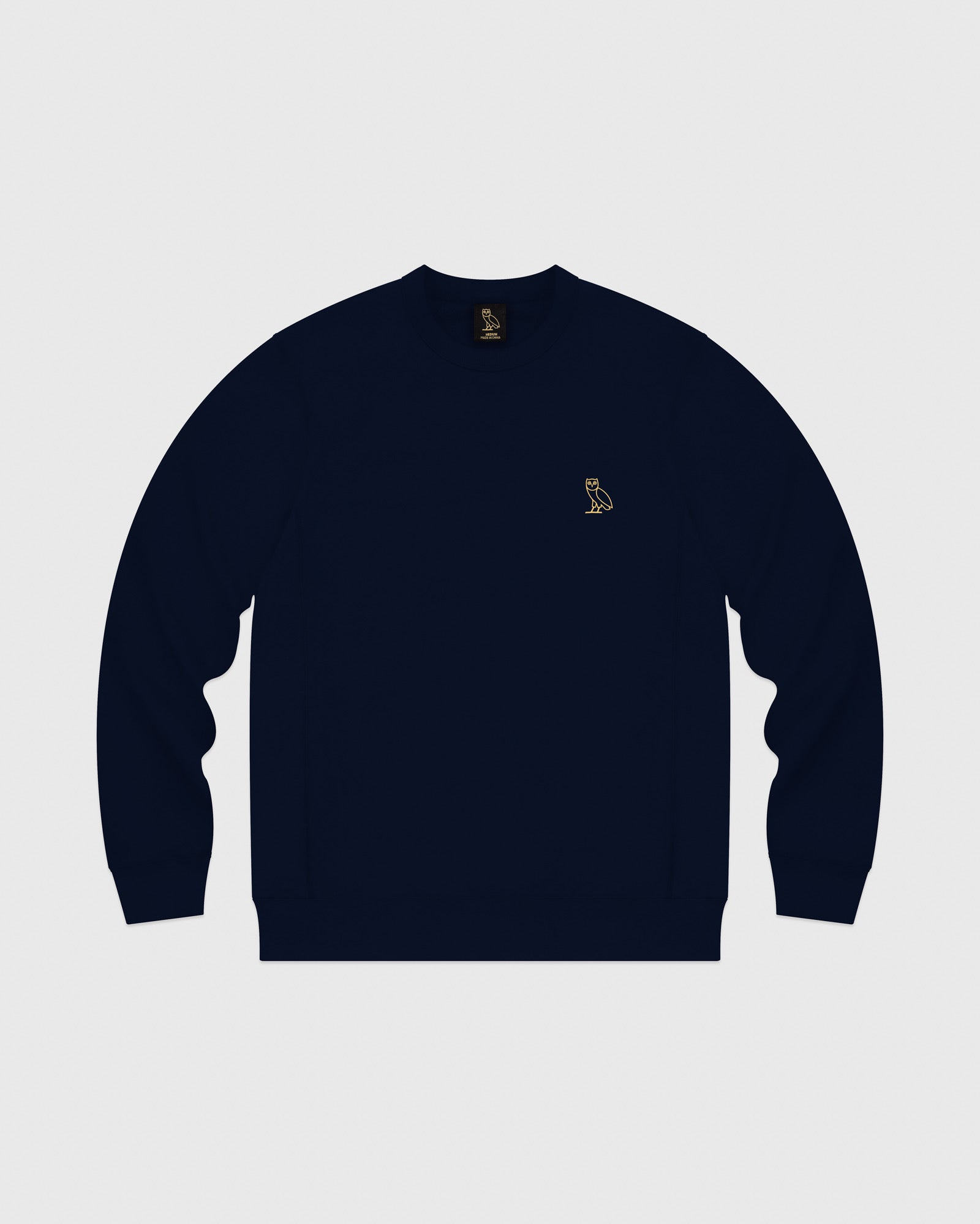 MID-WEIGHT FRENCH TERRY CREW - NAVY IMAGE #1