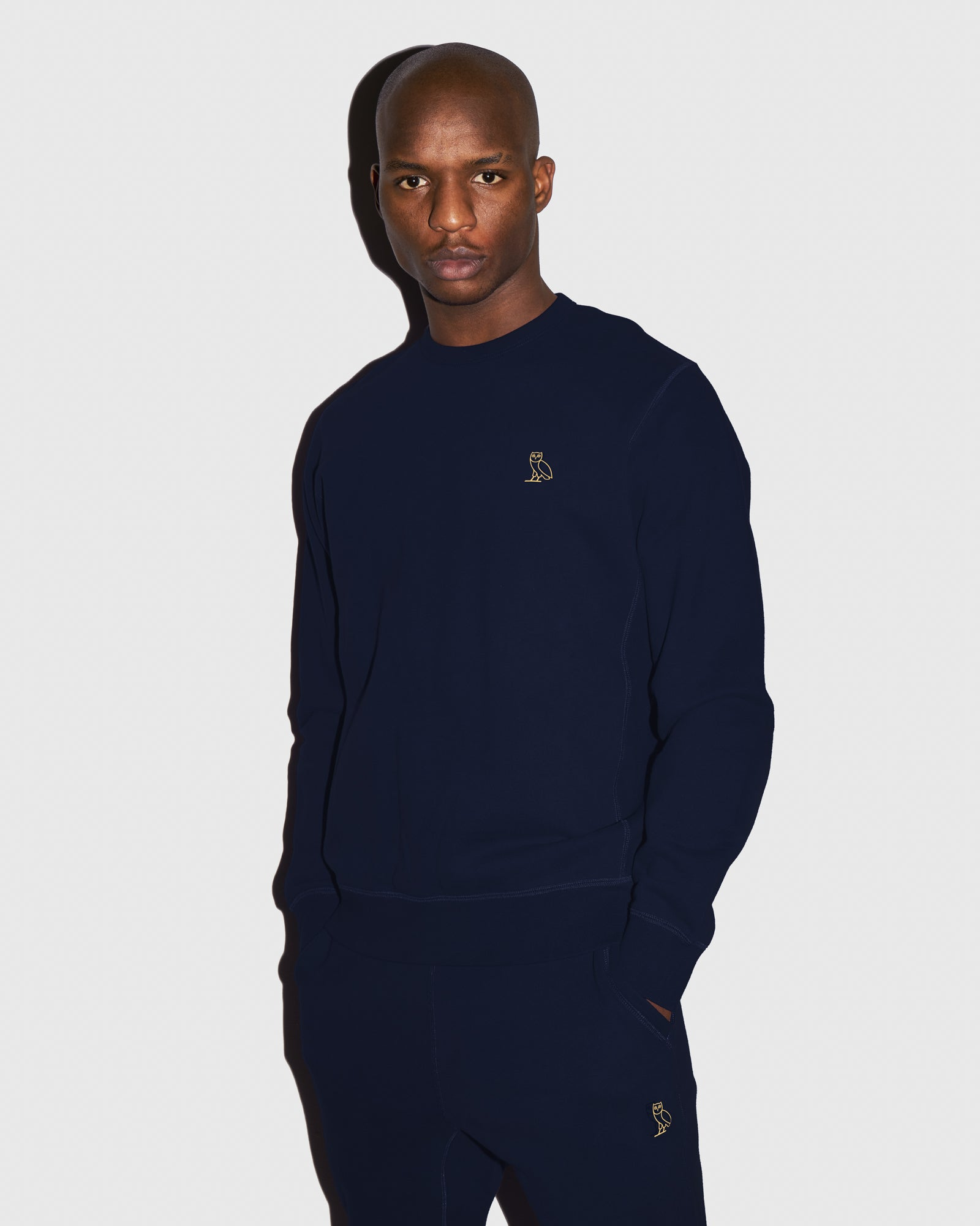 MID-WEIGHT FRENCH TERRY CREW - NAVY IMAGE #2