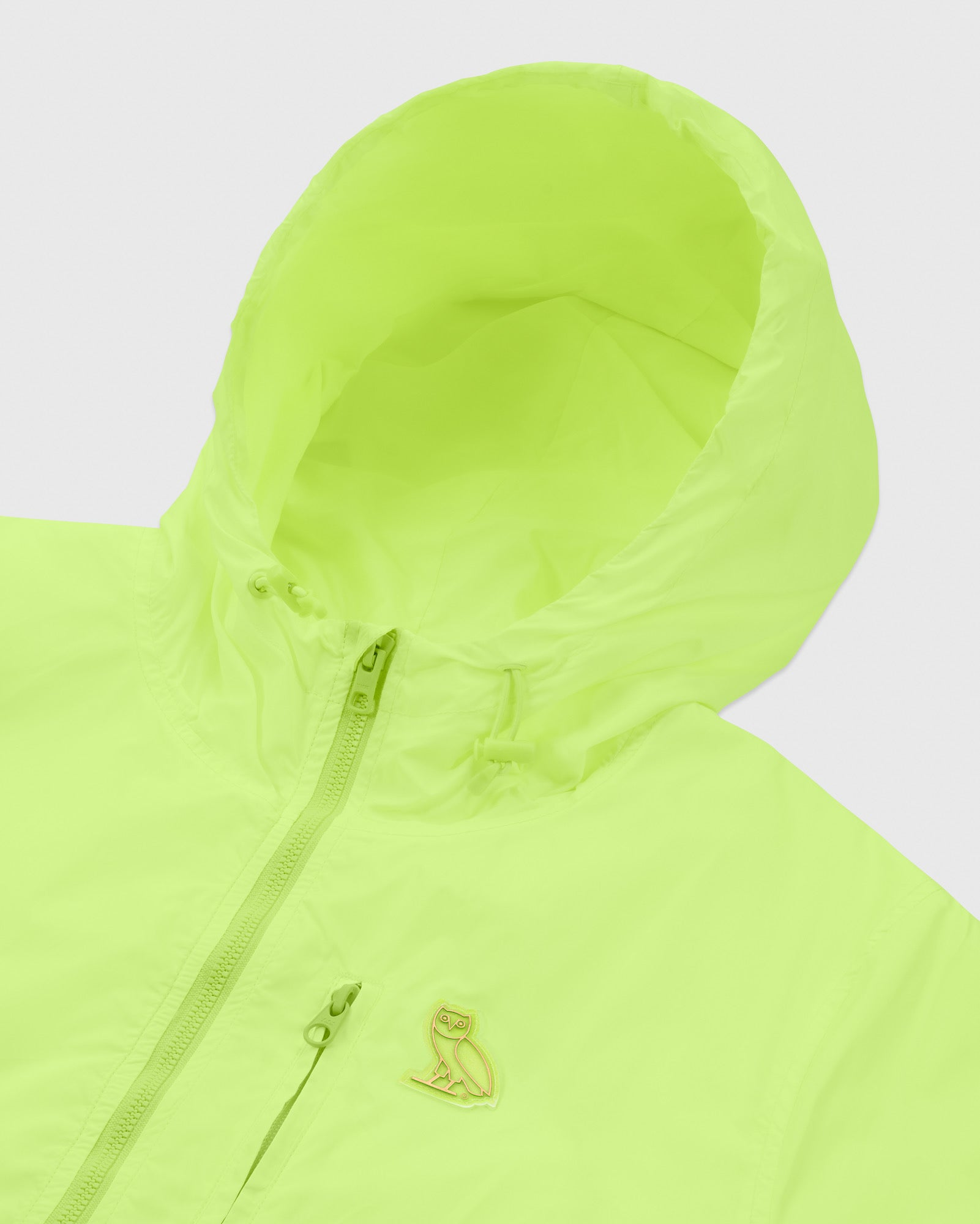 OVO NYLON PACKABLE JACKET - NEON GREEN IMAGE #3