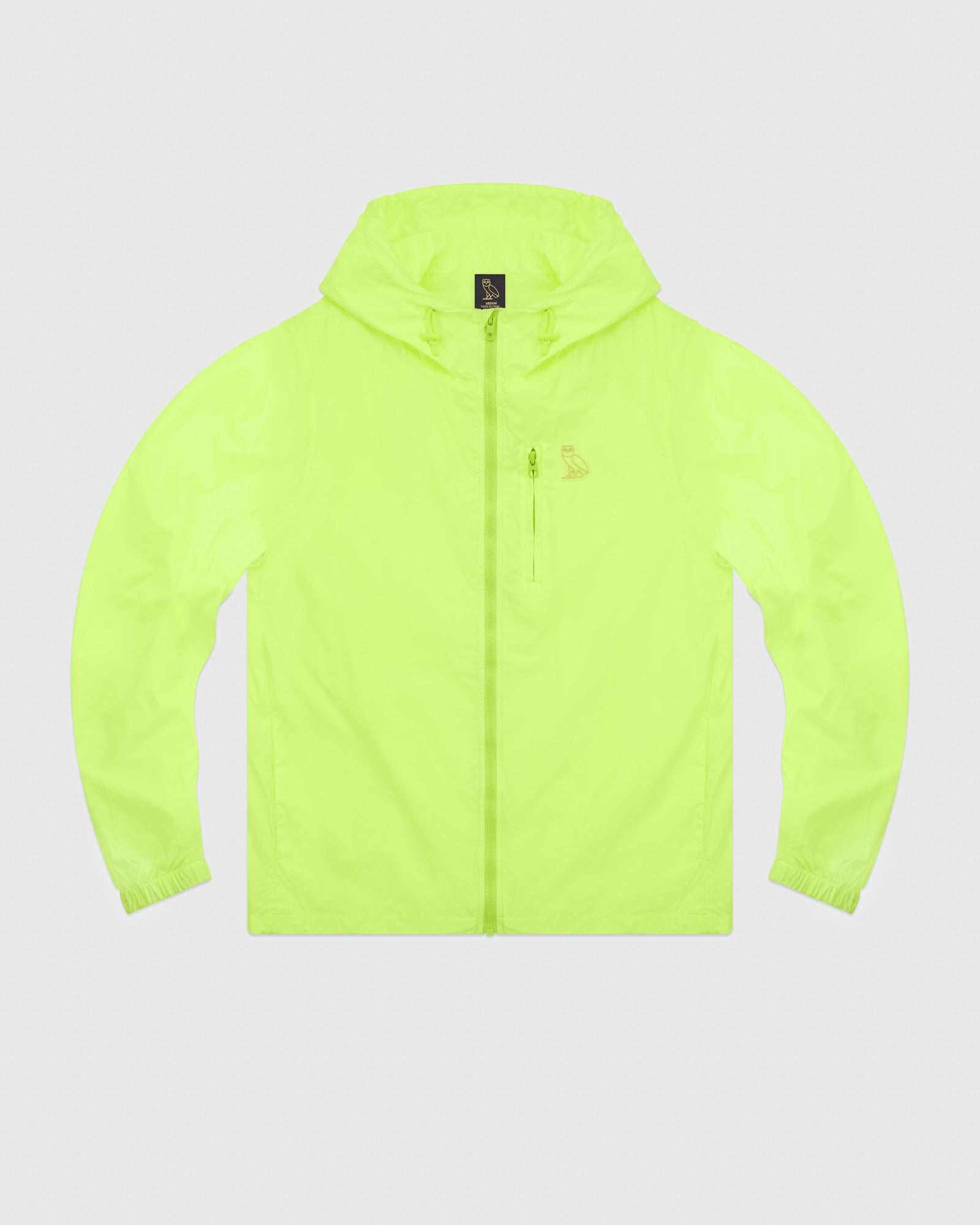 OVO NYLON PACKABLE JACKET - NEON GREEN IMAGE #1