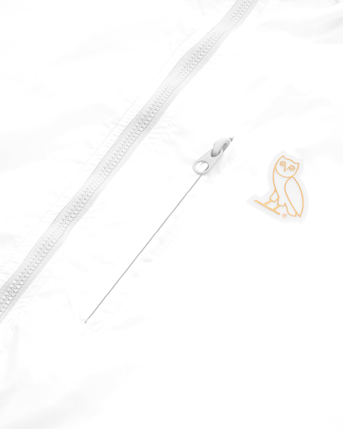 OVO NYLON PACKABLE JACKET - WHITE IMAGE #4