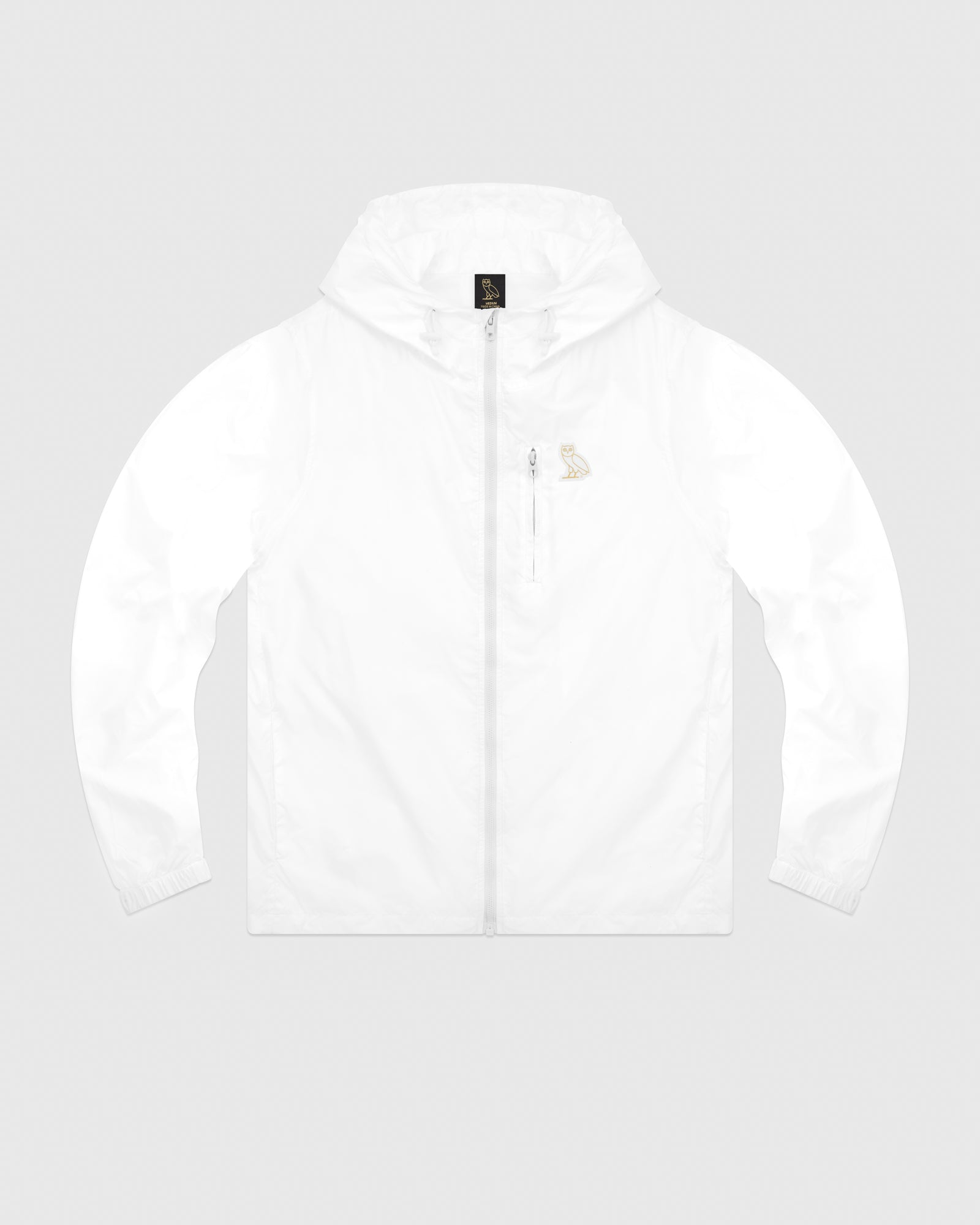 OVO NYLON PACKABLE JACKET - WHITE IMAGE #1