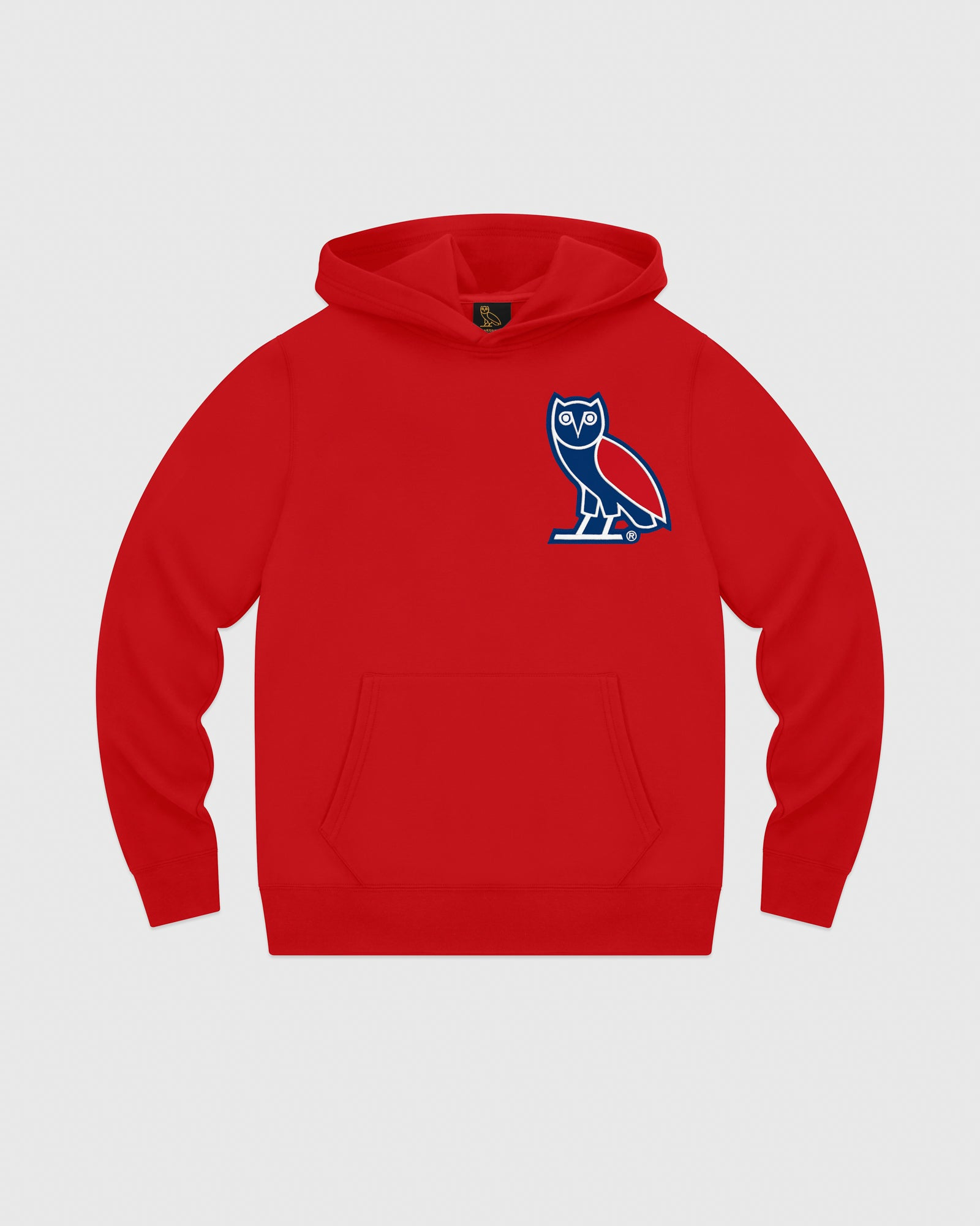 OVO FRANCHISE DOUBLE KNIT HOODIE - RED IMAGE #1