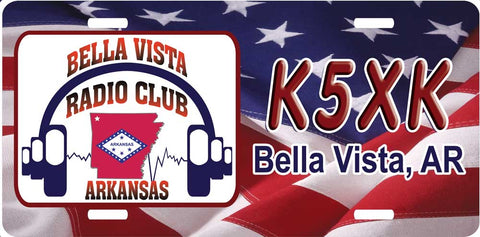 Bella Vista Radio Club Flag License Plate