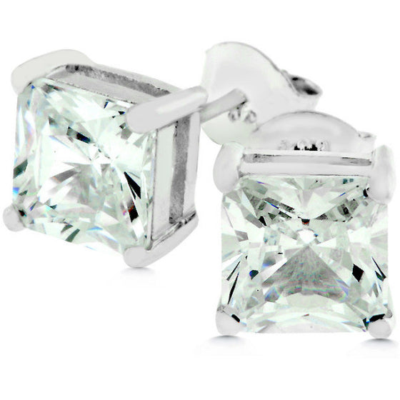 Glenna 4ct CZ Sterling Silver Stud Earrings