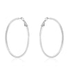 Clara White Gold Rhodium Hoop Earrings