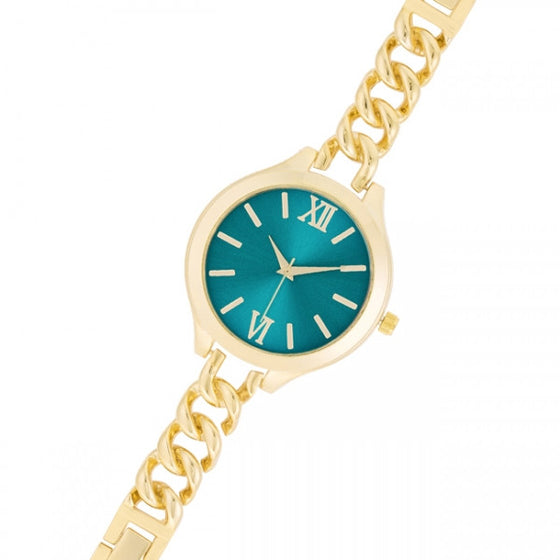 Daniele 14k Gold Mint Link Watch