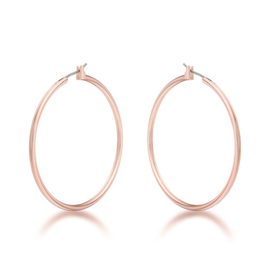 45mm Rosegold Hoop Earrings