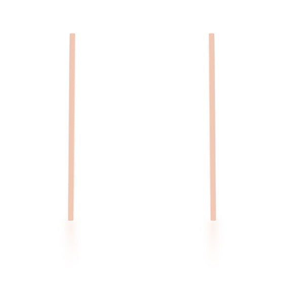 Carolee Rose Gold Stainless Steel Long Line Drop Earrings