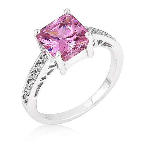 Penelope 2.1ct Pink CZ Sterling Silver Ring